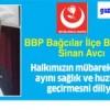 BBP Bağcılar İlçe Başkanı Avcı'dan ramazan mesajı