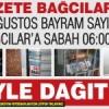 Gazete Bağcılar'ın Ağustos Bayram Sayısı böyle dağıtıldı