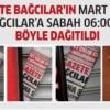 Gazete Bağcılar'ın MART sayısı böyle dağıtıldı..
