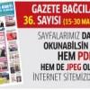 Gazete Bağcılar'ın 36. Sayısı çıktı (15-30 Mart)