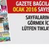 Gazete Bağcılar'ın OCAK 2016 sayısı çıktı..