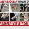 Gazete Bağcılar'ın MART sayısı Bağcılar'a böyle dağıtıldı..