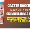 Gazete Bağcılar'ın Mayıs 2017, 60. Sayısı çıktı