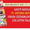 Gazete Bağcılar'ın Ağustos Sayı 70 çıktı