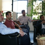 Okul müdür yardımcılarından Berat Bülent Yıldız ve Davut Kaya'da okullarının çalışmaları hakkında bilgi verdi.