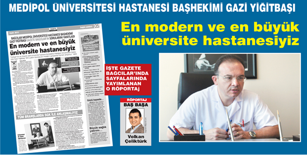 'En modern ve en büyük üniversite hastanesiyiz'