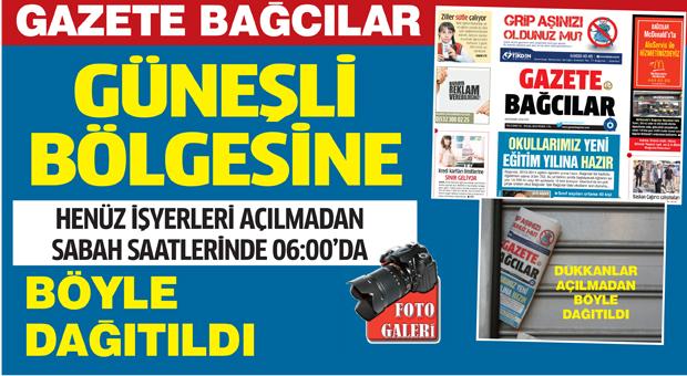 Güneşli Bölgesine Gazete Bağcılar böyle dağıtıldı…