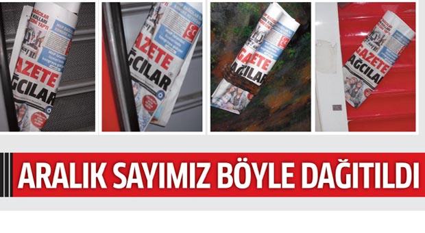 Gazete Bağcılar'ın ARALIK sayısı böyle dağıtıldı..