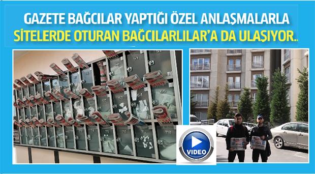 Gazete Bağcılar Böyle Dağıtıldı VİDEO