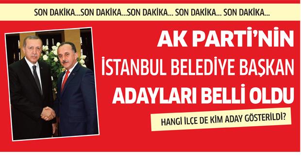 AK Parti'nin İstanbul adayları belli oldu