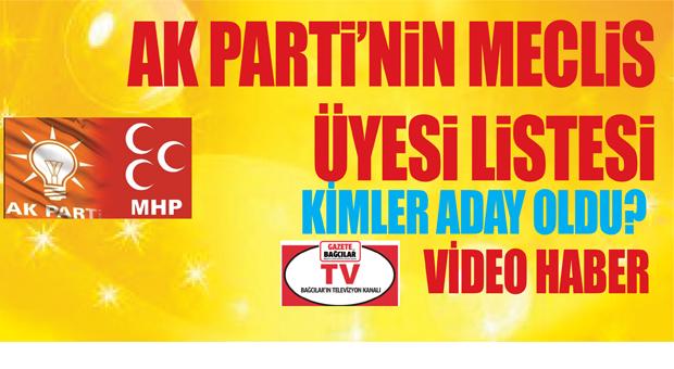 AK Parti'nin Belediye Meclis Üye Aday Listesi'nde kimler var?