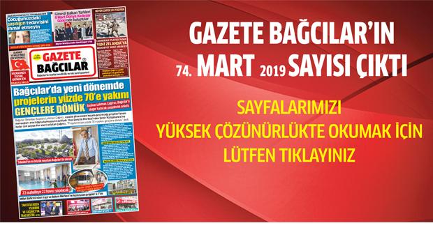 Gazete Bağcılar'ın MART sayısı çıktı…