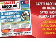 Gazete Bağcılar'ın 80. Kasım Sayısı Çıktı