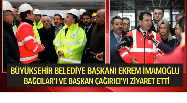Ekrem İmamoğlu, Bağcılar Belediye Başkanı Çağırıcı'yı ziyaret etti