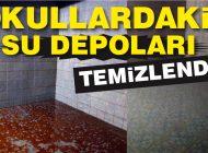 BAĞCILAR'DAKİ OKULLARIN SU DEPOLARI TEMİZLENDİ
