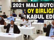 2021 MALİ BÜTÇESİ OY BİRLİĞİYLE KABUL EDİLDİ